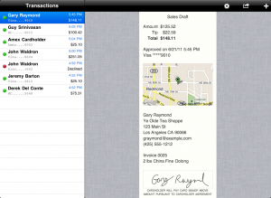 Credit Card Terminal for iPad - Receipts with Maps
