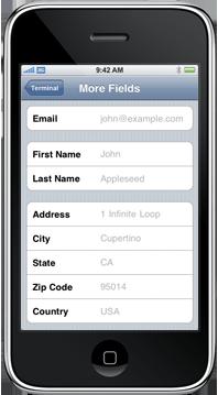 iPhone Screenshot More Fields